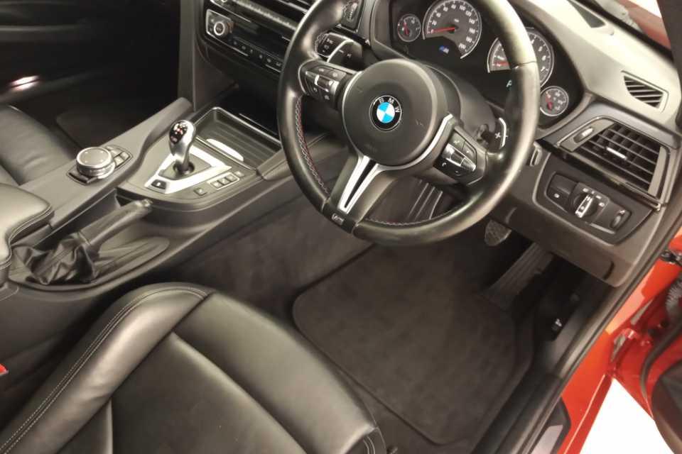 A deep cleaned BMW car interior