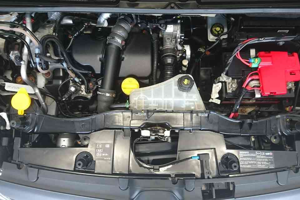 An immaculately clean car engine
