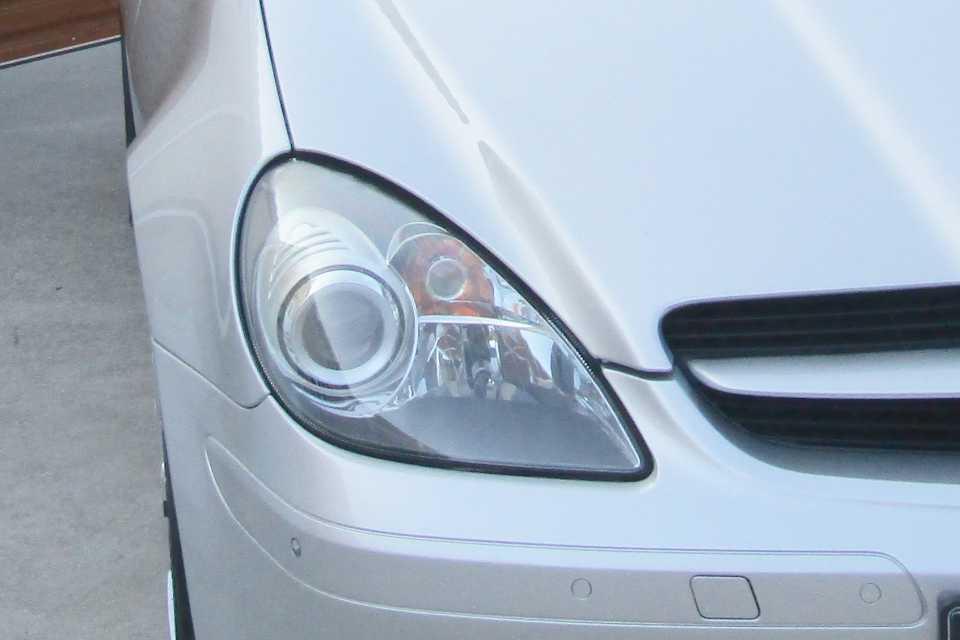 A Mercedes headlamp
