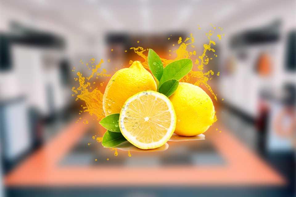 An image showing freshly cut lemons