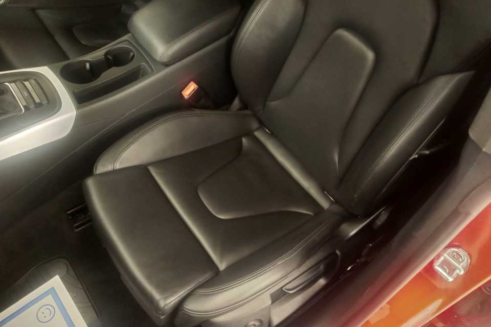 Immaculately cleaned leather car seat