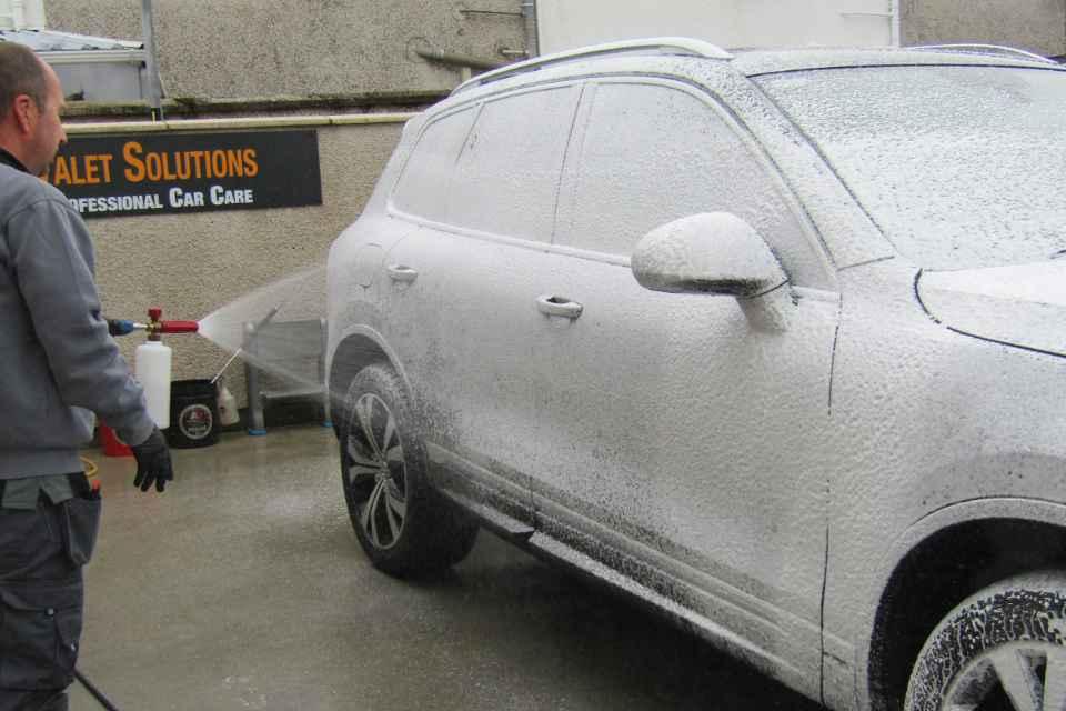 A snow foam wash